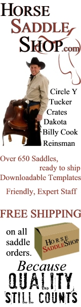 FREE SHIPPING on saddles to the continental US!