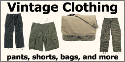View our large assortment of vintage clothing - shirts, pants, bags and more