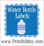 Printable Water Bottle Labels