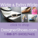 Wide and extra-wide designer shoes